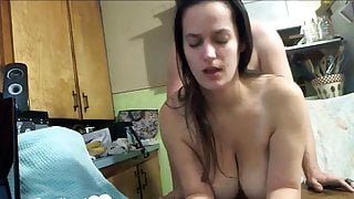 Big boobed wife fucked on the table