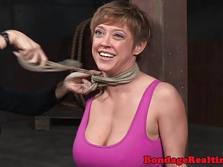 Vagina clamps Busty nipple clamped sub mercilessly punished