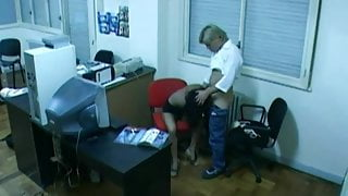 Latin office fuck caught by hidden cam