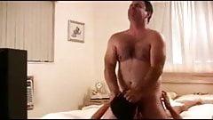 Gay bear seduces a slender twink