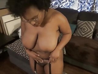 Black chubby dick woman - Hot chubby black woman exposes her body on a couch