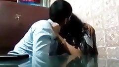 Desi kissing in cafe