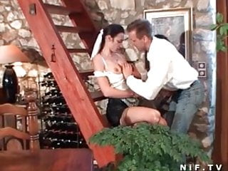 French maid fucked French maid hard anal fucked