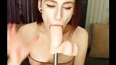 Dildo deepthroat girl