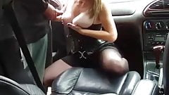 Threesome in the car