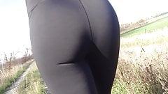 Tight Assed Yoga Slut Tease n Strip