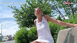 MyDirtyHobby - German blonde MILF outdoor creampie