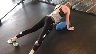 Brie working out
