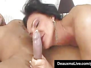 Blond milf seduces deauxma - Texas cougar deauxma takes a big dick in her mature butthole