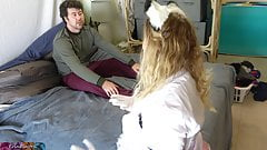 Stepsister gets stepbrother to fuck her butt