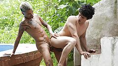 LatinLeche - Tattooed Stud Fucks A Sexy Latino Boy Outdoors