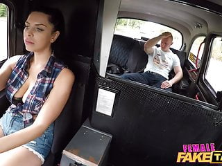 Huge pumped penis Female fake taxi busty kira queen fucking a penis pump fan