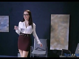 Preston parker pornstar Stockings and glasses at work