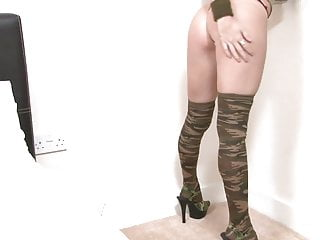 Army girl fucked Stunning army girl with natural tits strips for the camera