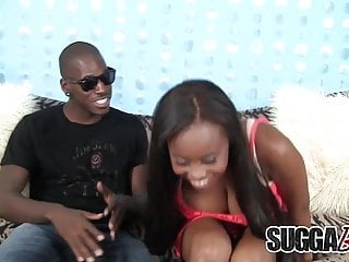 Black cunt fucking - Busty black slut tit and cunt fucks dude