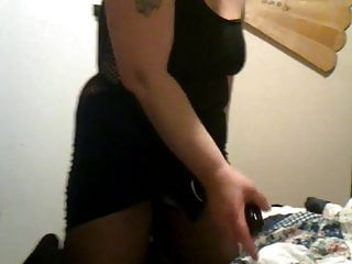 Cock first her monster My filthy granny slave slut wanking her monster black cock