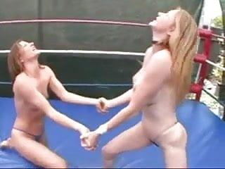 Lesbian unity rings - Topless ring wrestling 2