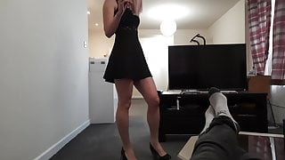 Helped my friend to choose lingerie and fucked her as a payment.
