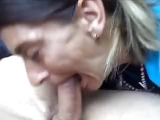 Busty mature skanks - Blowjob by a skank mature
