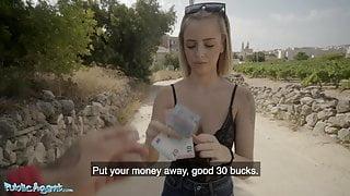 Public Agent, Cute Spanish Blonde Lya Missy Fucked Outside