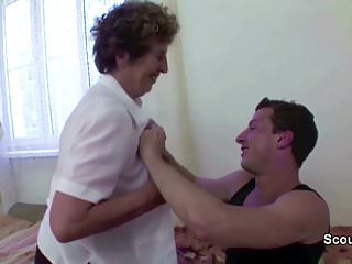Man seduces teen boy - Young boy seduce granny to get first fuck and fuck her anal