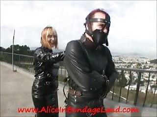 Sexy fran - Public bondage strait jacket femdom mistress alice san fran