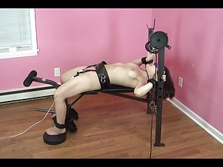 Orgasm over dose - Strapped to bench, made to orgasm over and over