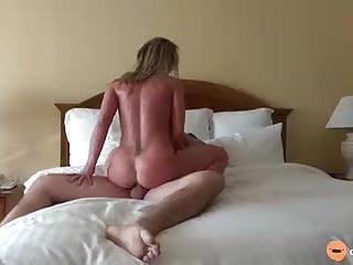 Wife rides big hard cock Riding to hard