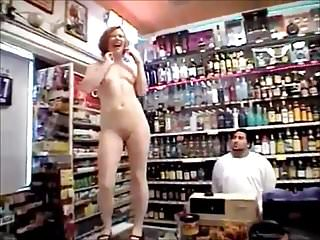 Naked girl gets emo - Girl gets naked for shop workers