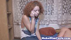 Redhead gf cuckolds her cheating boyfriend