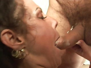 Licked her ass while Curvy milf deep throats dude while he is licking her cunt