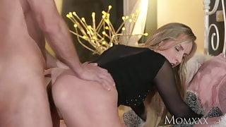 STEP MOM Blonde bombshell MILF worships the cock that fucks her