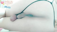 Pornograficzny duży biały tyłek i samotny dupek