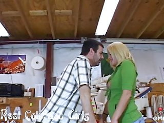 Fucking boss at work - Hot blonde fucked at work by her boss