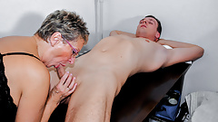 LETSDOEIT - German GRANNY Seducing Horny Guy