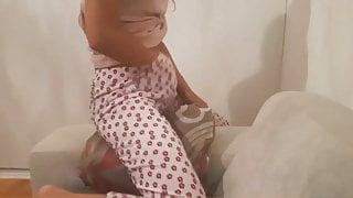 Masturbation on a new pillow