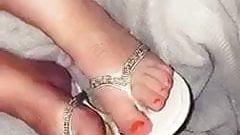 Cum on sandals