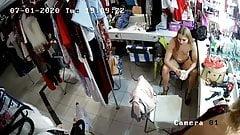 Hidden camera in the strippers ' locker room