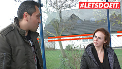 LETSDOEIT - Amateur German Picked Up From The Bus Station
