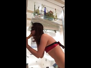 Parent directory lingerie Chinese student masturbate in shower of parents home