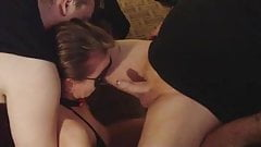Cuckold submissive slave wife being used