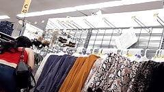 Crossdresser upskirt at Walmart - no panties