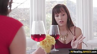 Kinky MILF sucking dick during taboo swap