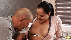 Old daddy uses opportunity to fuck son's amazing girlfriend