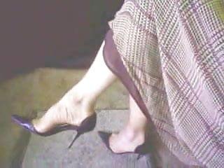 Teasin his cock Stilettos heels teasin