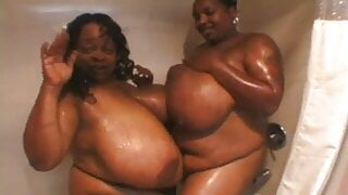 2 black mamas shower