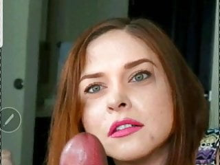 Best looking redhead Edging at its best...look at her eyes