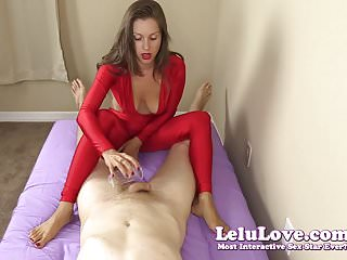 Clothed women giving handjobs Clothed female gives you handjob and footjob until you cum