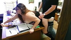 wife in office with boss