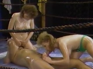 Busty lesbian catfight preview Busty wrestling babes